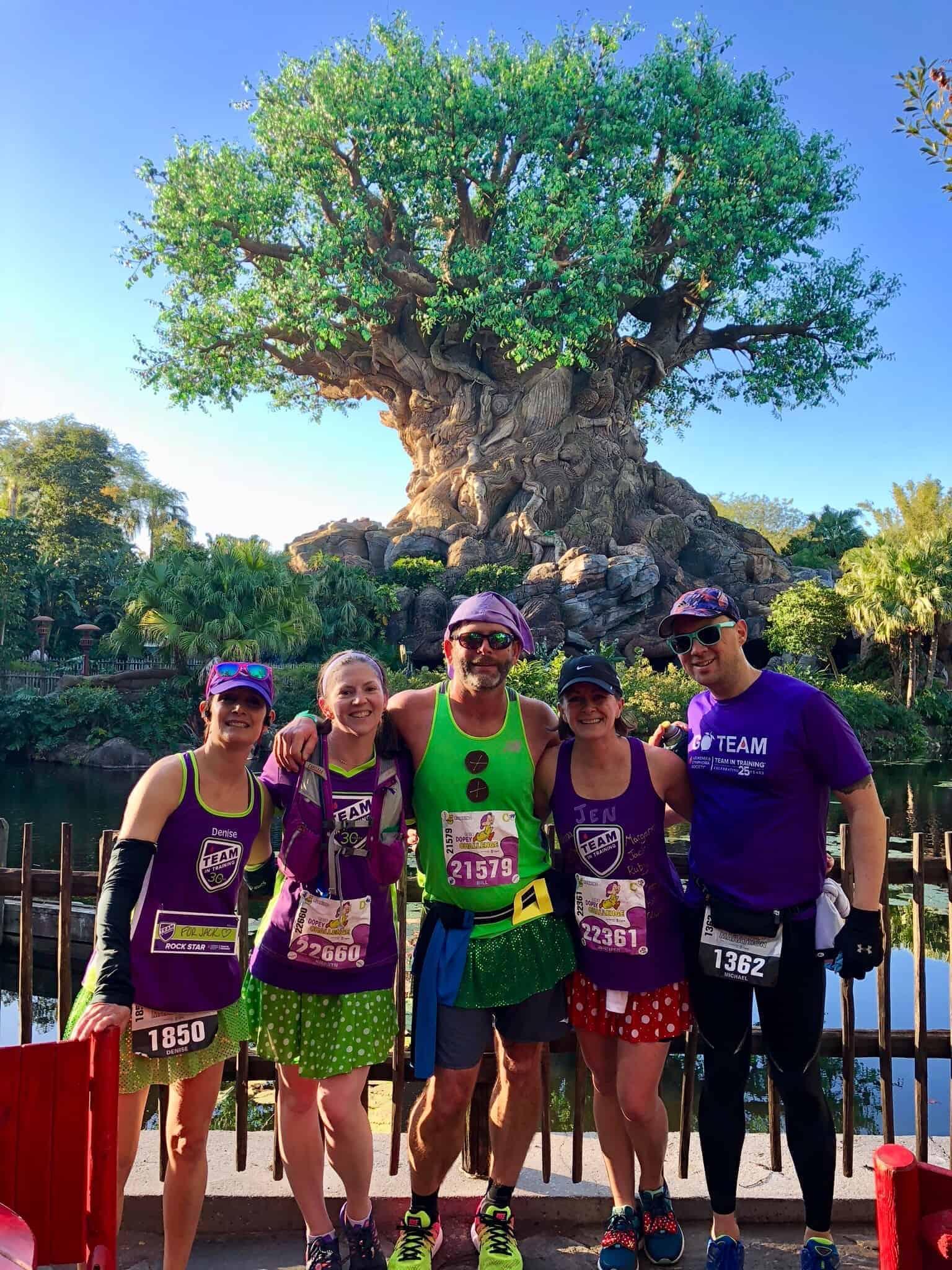 Runners at Disney Marathon Weekend Animal Kingdom