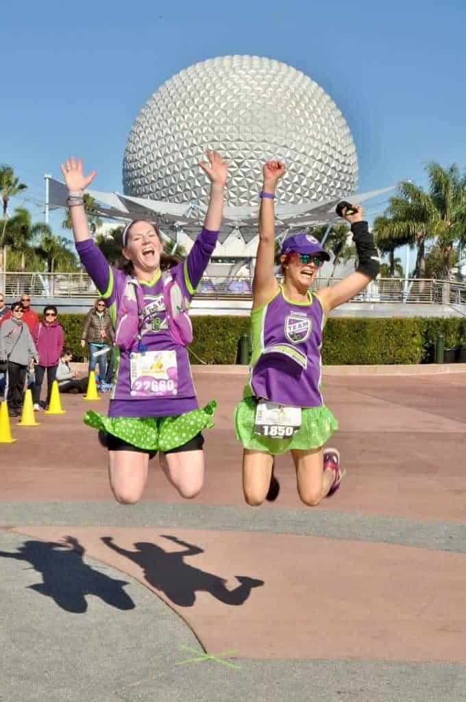Epcot, Disney Marathon, team in training, marathoners, runners