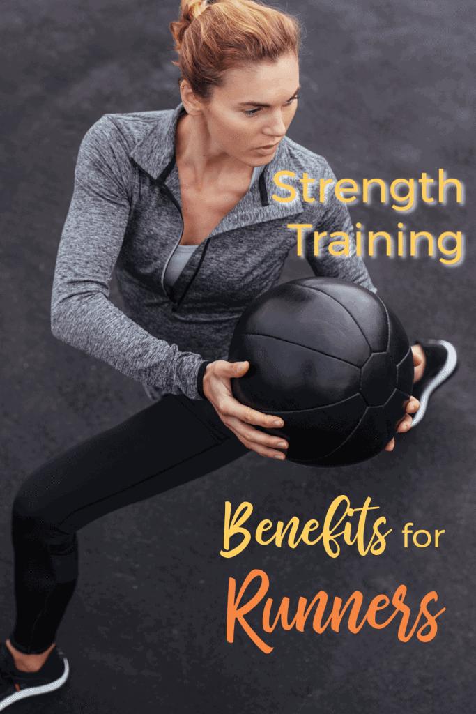 Female twisting with med ball for runner strengthening