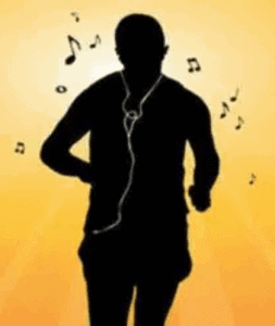 image of runner with apple ear phones