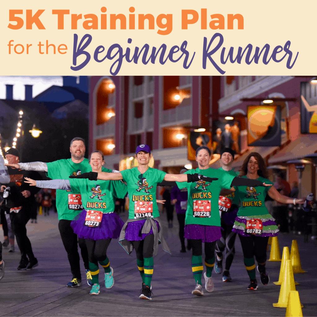 5K training plan for the beginner runner; #rundisney #5Kplan #runningtips #race tips
