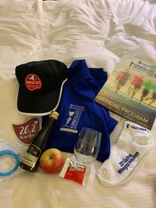 wineglass marathon race recap; #raceswag, #running #runningtips #racereview #racerecap #marathonrecap