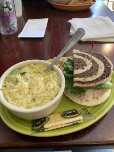 Wineglass Marathon Recap - Old World Cafe Restaurant with soup and sandwich