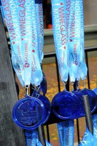 wineglass marathon medal, #racebling #running #racerecap #wineglassmarathonrecap