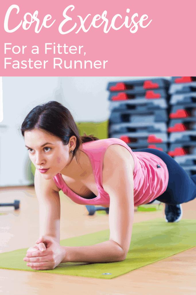 Here's how to prevent injury, feel stronger, improve your running efficiency/form, & run faster... Runner core exercise.  #coreexercise #runnerfitness #running #fitnessmotivation