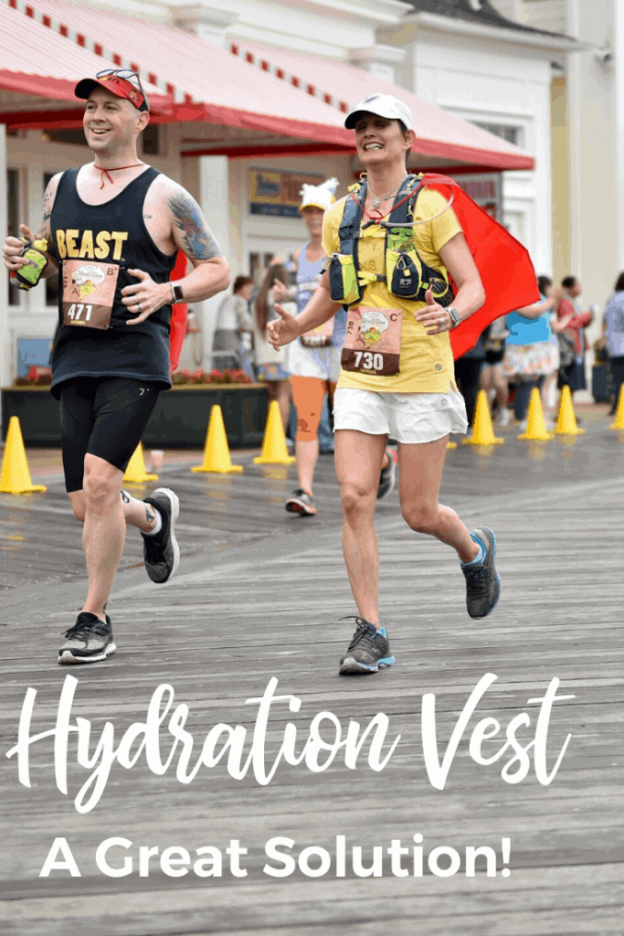 A hydration vest is a great solution for long distance runs or races.  Be prepared for any race or distance!  Great convenience.  Read to find out tips and tricks as well.  #running #runningtips #hydrationvest