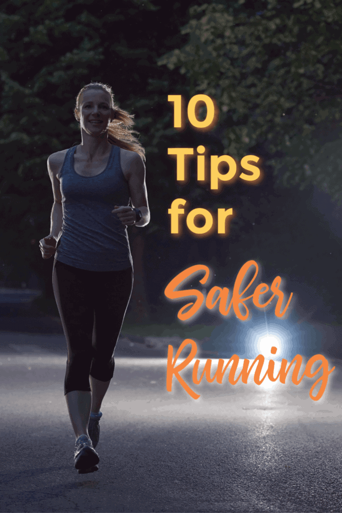 Safety tips for a safer running environment & focusing on what you can control. Ensure your visibility to drivers. Decrease the odds of an attack when running. #safety #runningtips #runningsafety #safetytips #saferunning