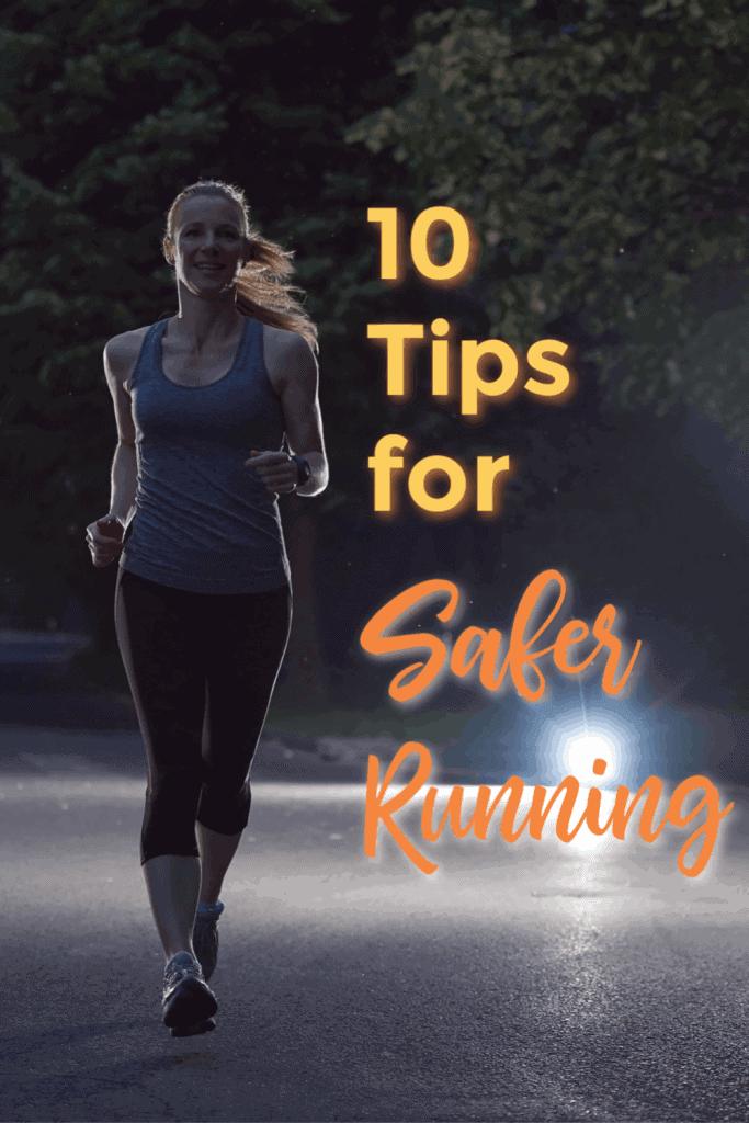 female runner alone at dark safer tips