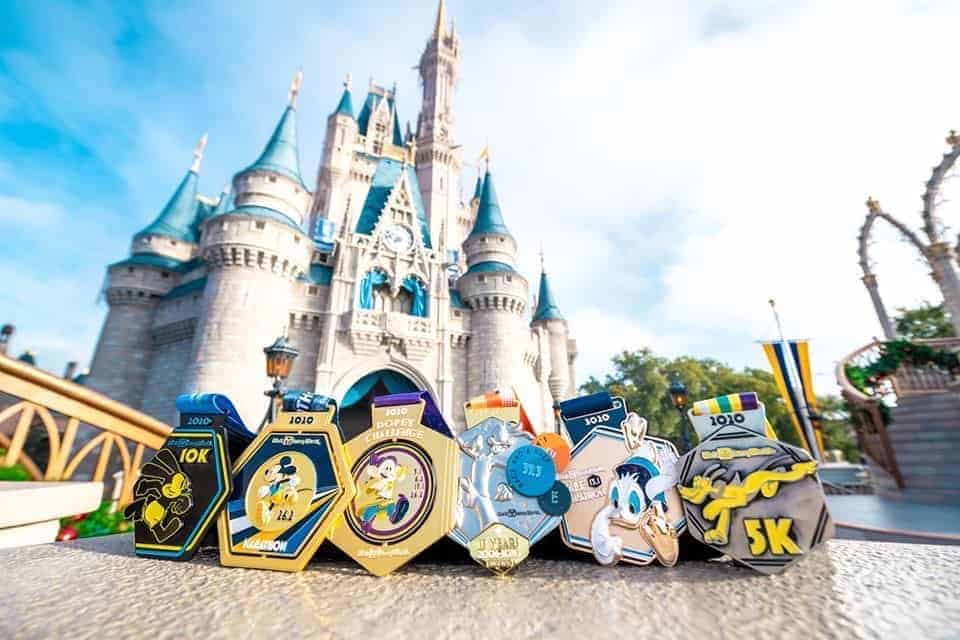 Awesome runDisney medals for Dopey Challenge #disneymedals #dopeychallenge #rundisney #runningglow