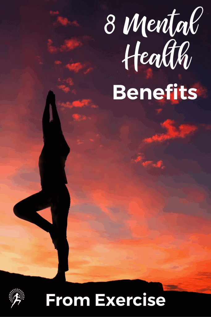 Exercise is one of the most effective ways to improve your mental health.  Read how it improves mood, sleep, cognitive decline, stress, anxiety & depression. #running #exercise #mentalhealth #runningglow