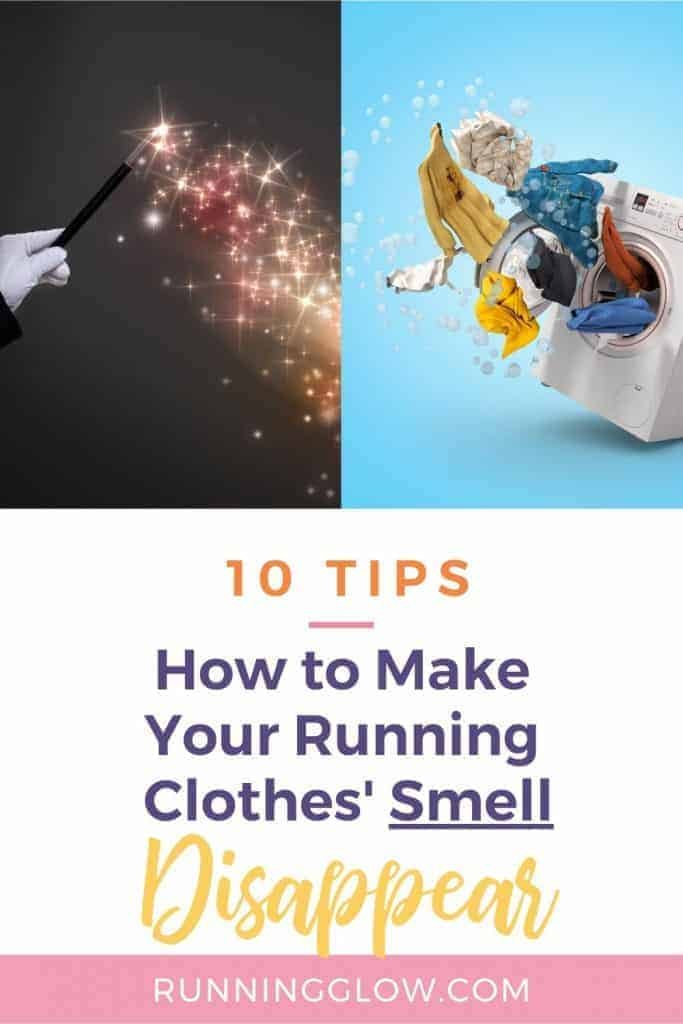 Washing machine and running clothes that smell