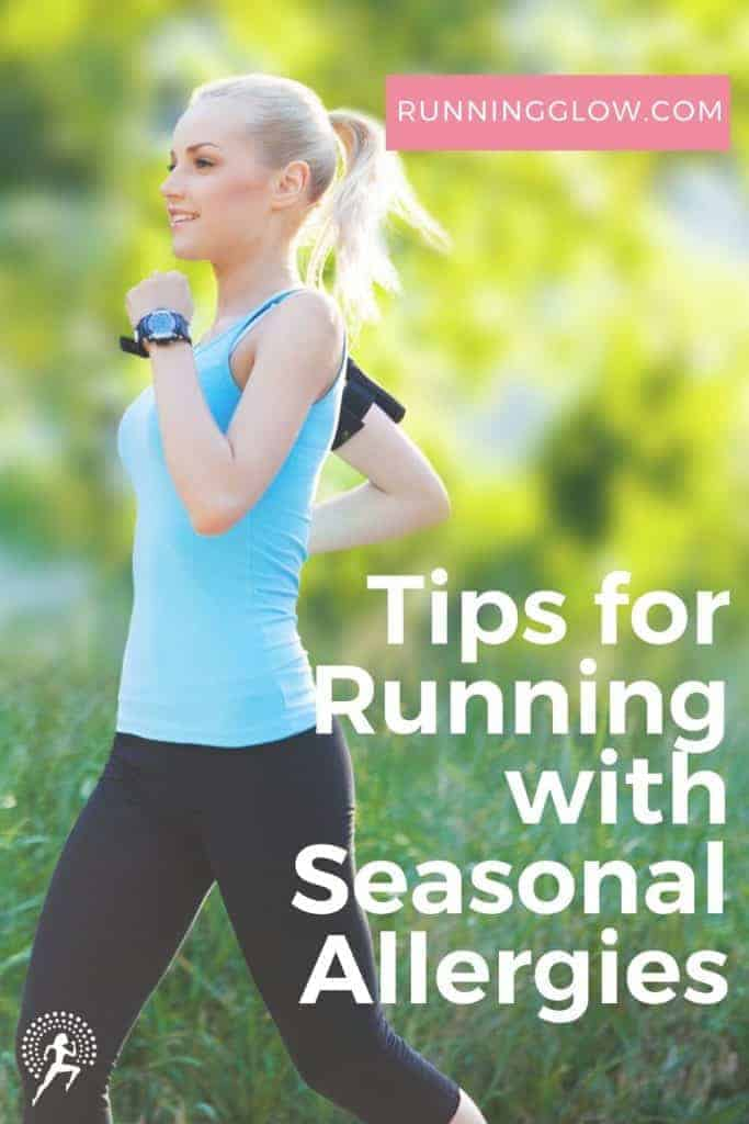 female runner coping with seasonal allergies