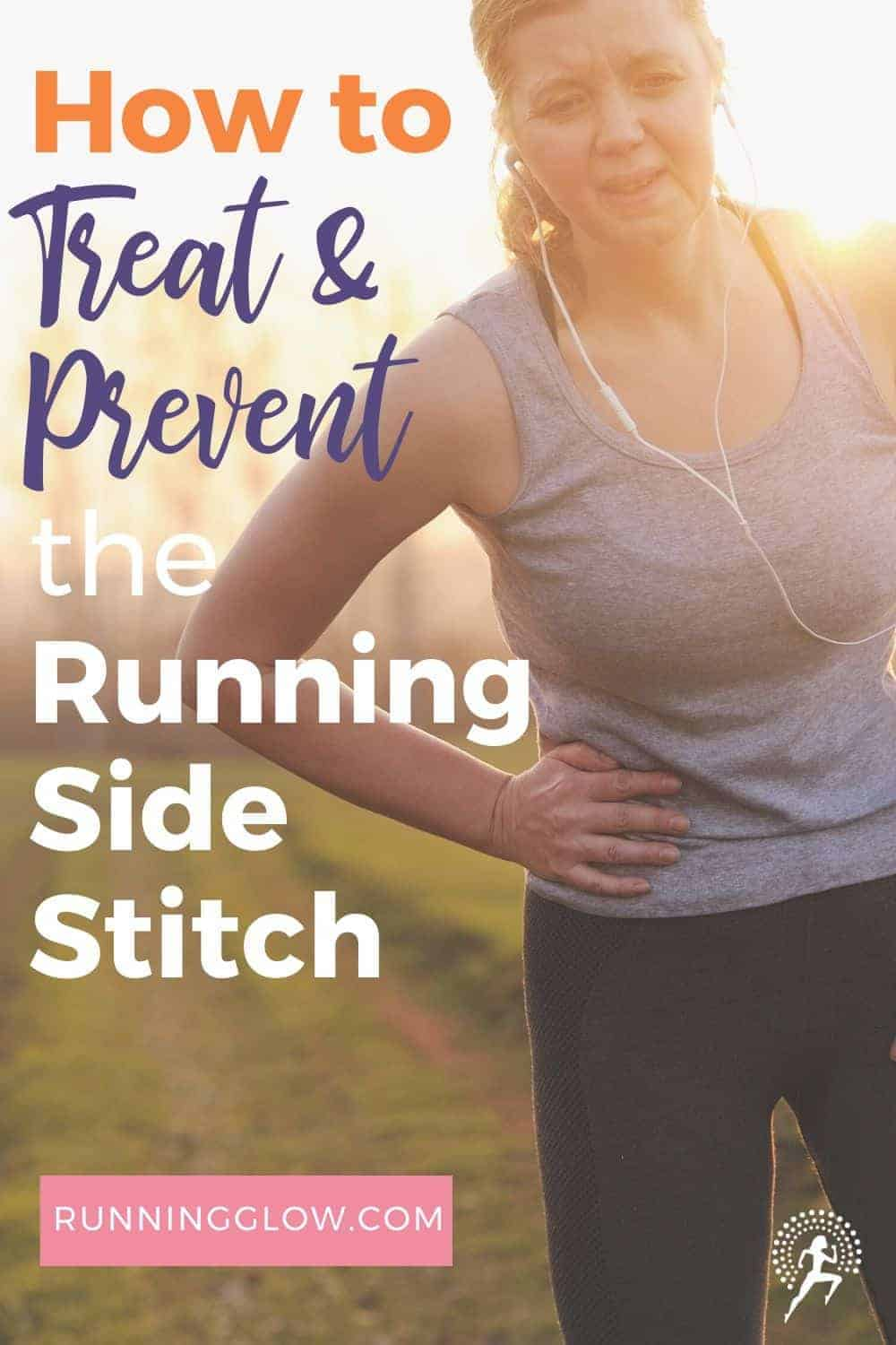 female runner with side stitch in pain