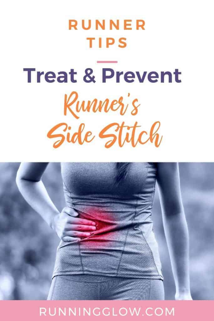 painful side stitch in female runner